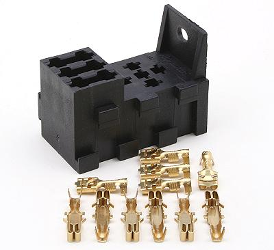 standard relay holders polevolt 3 way interlocking fuse box plus 1 relay socket terminals